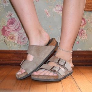 Taupe Suede Leather Birkenstock